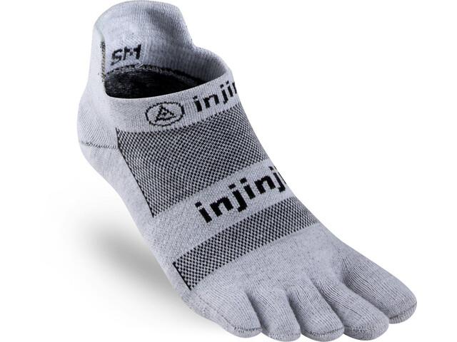 Injinji Run Xtralife Lightweight No Show Socks Herren gray